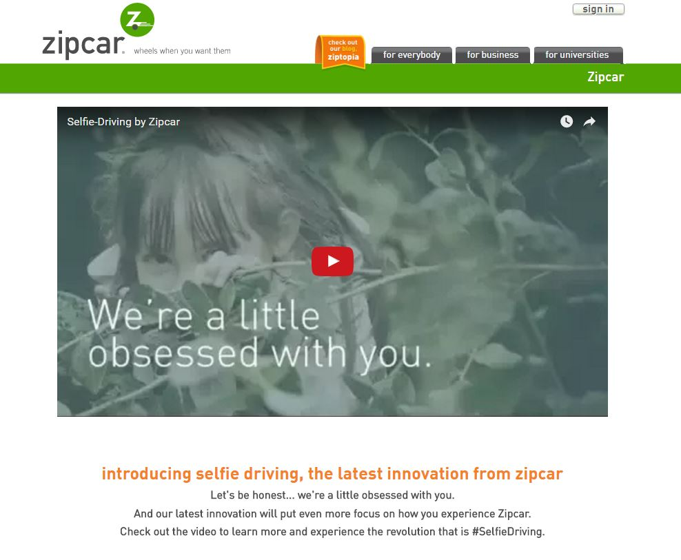 April Fools' 2016 Jokes Zipcar