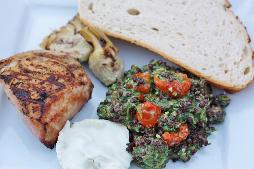 Beluga Lentil with salsa verde recipe merchant gourmet 5