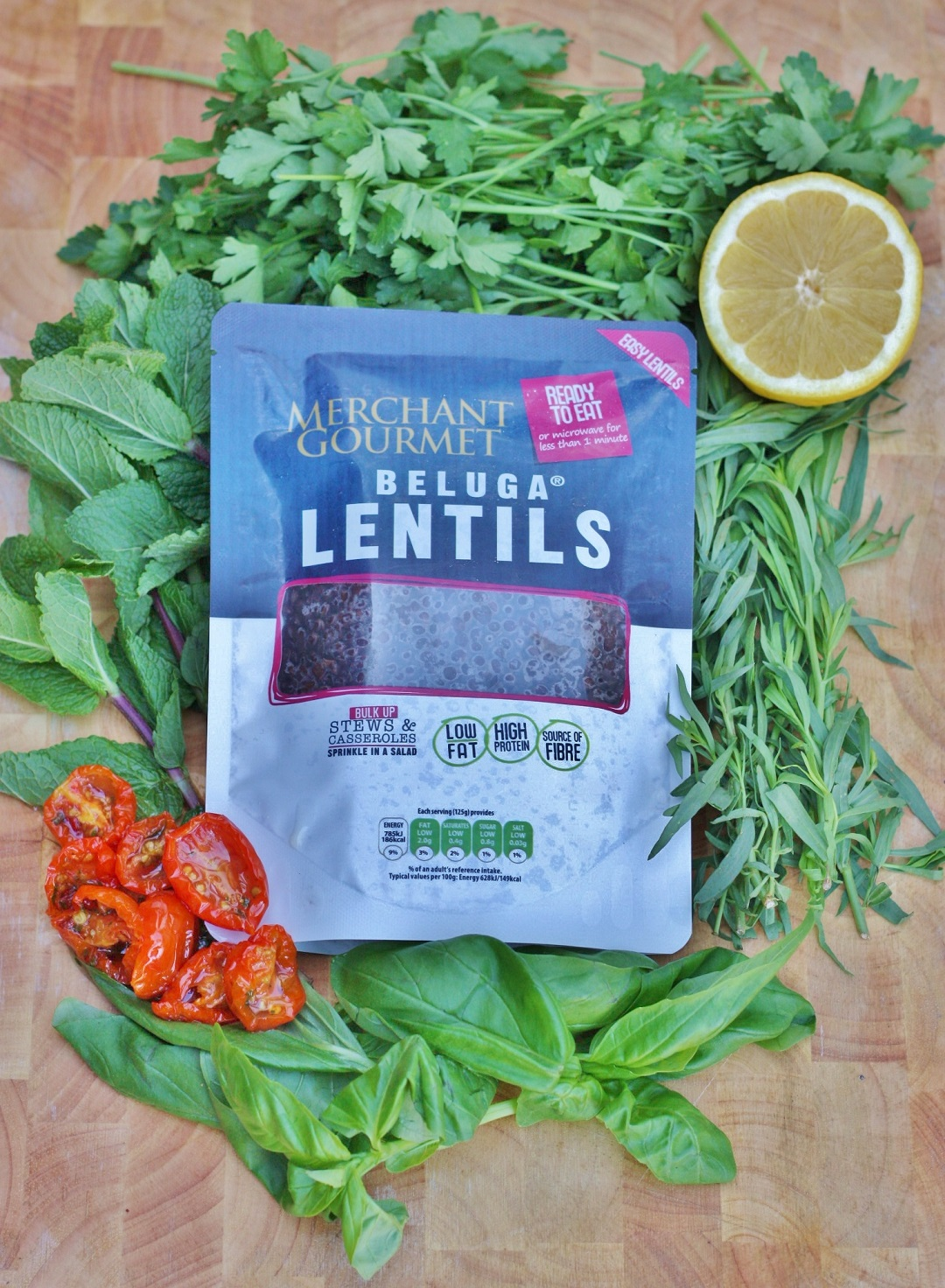 Beluga Lentil with salsa verde recipe merchant gourmet 6