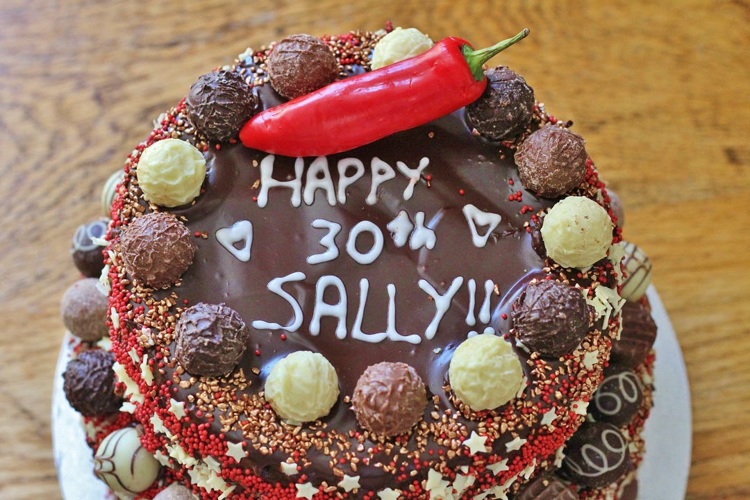 Recipe Chocolate Chilli Cinnamon Celebration Cake 4