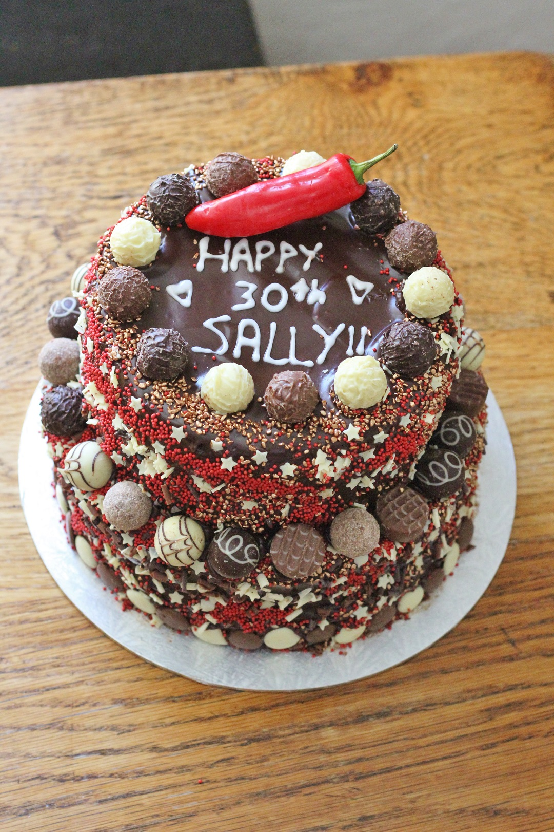 Recipe Chocolate Chilli Cinnamon Celebration Cake 5