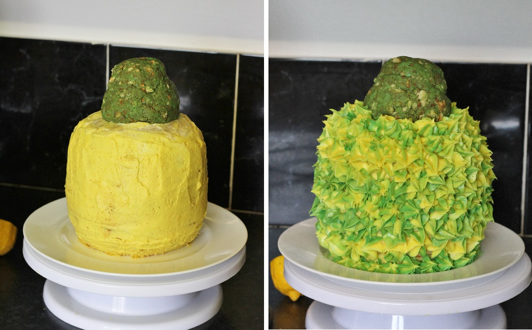 The Bake Off Bake Along Week One - Pineapple Illusion Cake 4