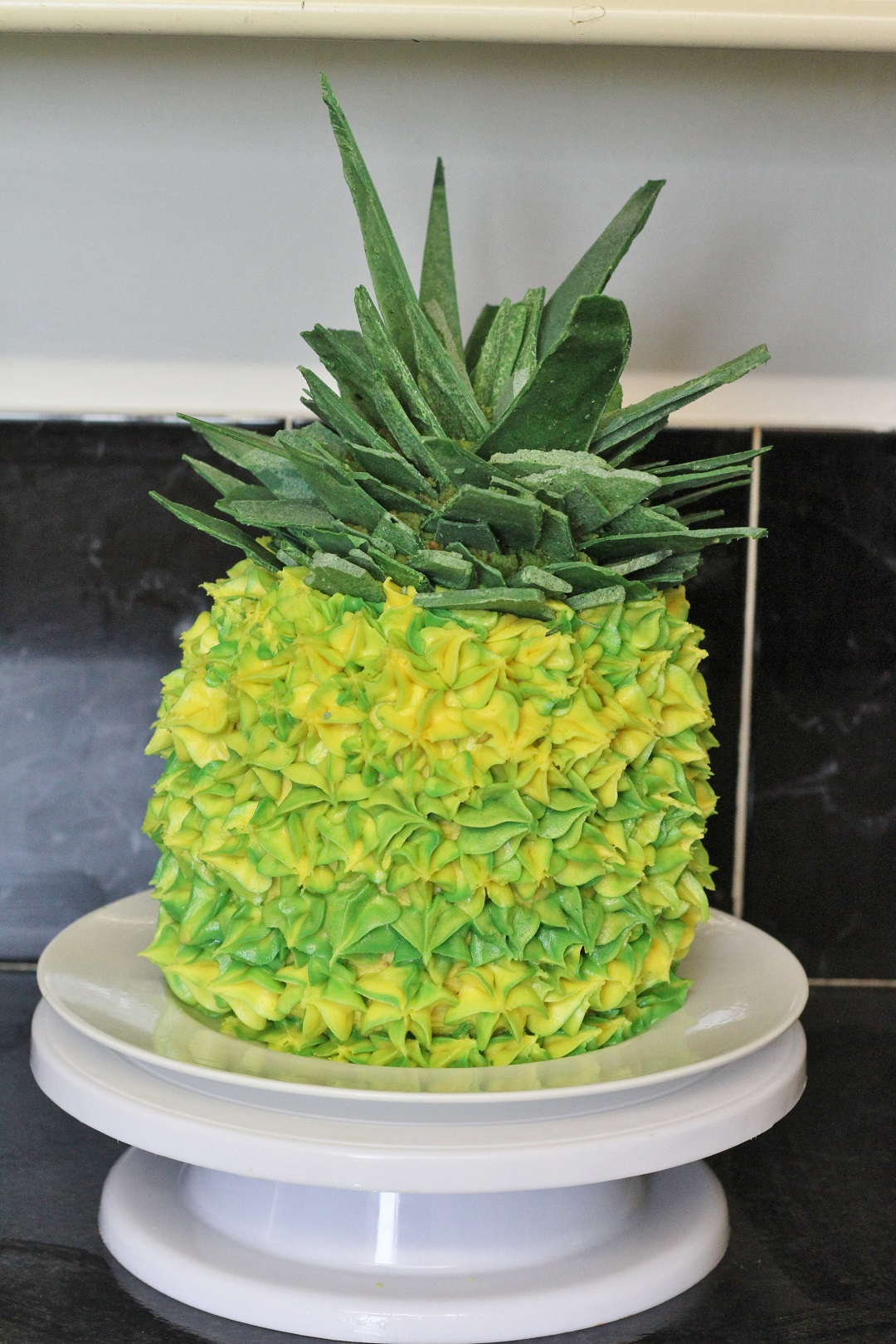 The Bake Off Bake Along Week One - Pineapple Illusion Cake 6
