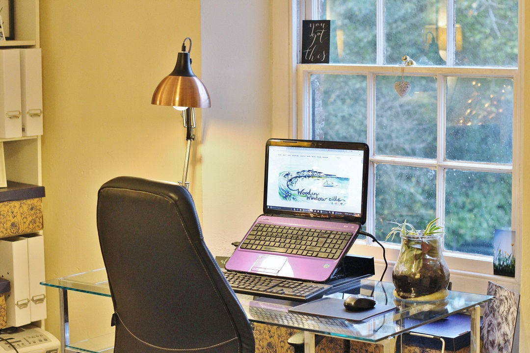 Wooden Window Sills Home Office Tour 7