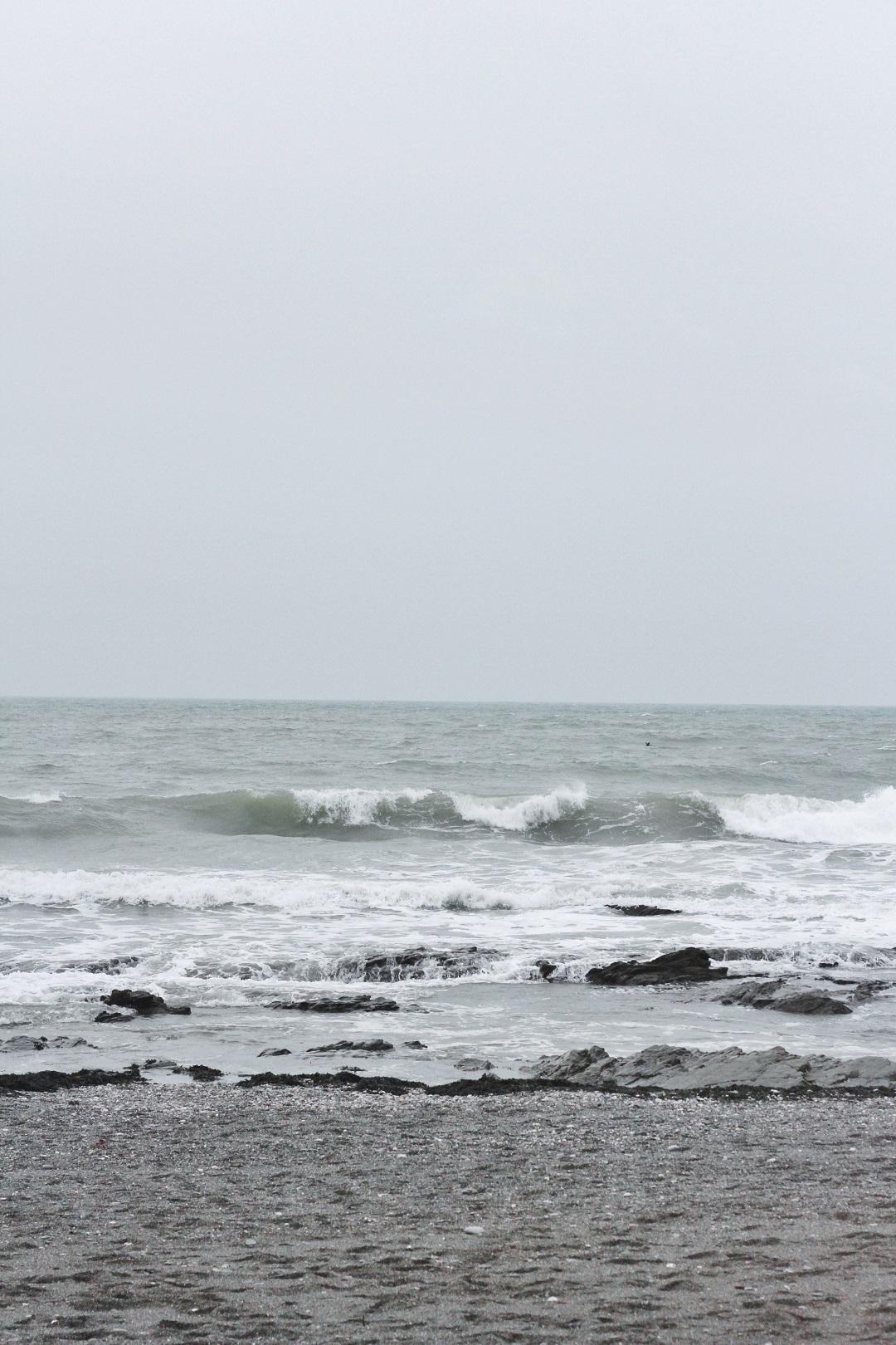 Wooden Window Sills Winter on Downderry Beach 7